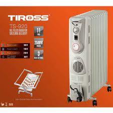 Sưởi dầu TIROSS, có quạt Turbo, hẹn giờ TS-920