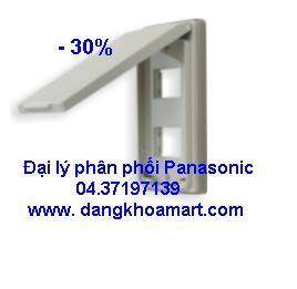 Mặt cho 2 thiết bị có nắp che mưa Panasonic WEG7902