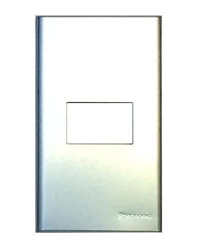 Mặt 1 thiết bị kim loại nhôm vân xước Panasonic WEG6501-1