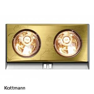 Đèn sưởi Hans 2 bóng Kottmann K2B-G