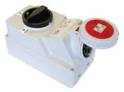 Ổ cắm công nghiệp PCE kèm công tắc kín nước F75252-6