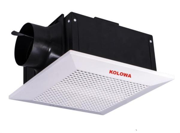Quạt thông gió âm trần nối ống Kolowa KL10-18