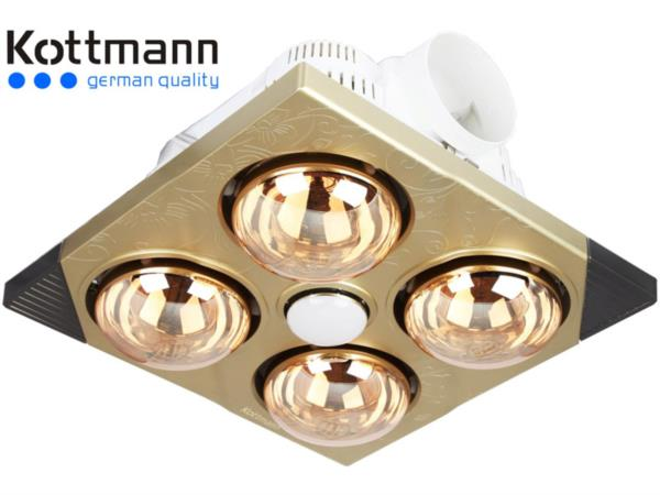 Đèn sưởi nhà tắm 4 bóng vàng Kottmann K4B-T