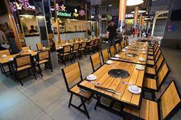 bàn ghế lẩu nướng