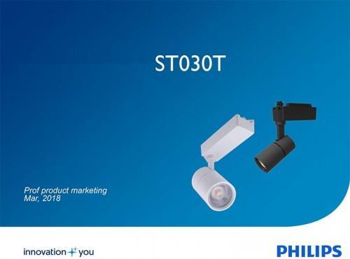 Đèn Led thanh ray 23W chiếu điểm Philips ST030T LED20 I NB WH/BK
