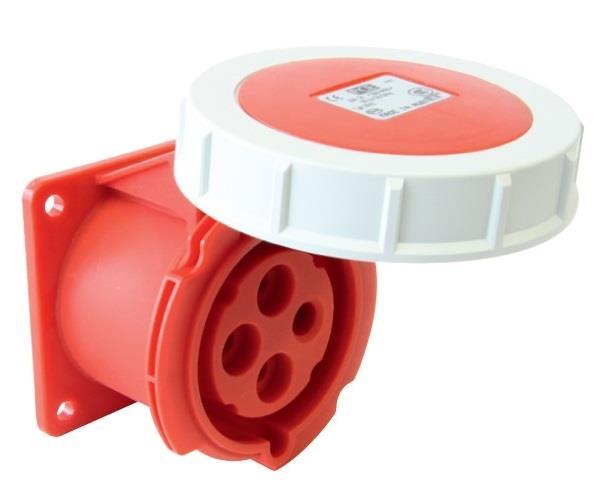 Ổ cắm gắn âm kín nước dạng thẳng PCE F3142-6