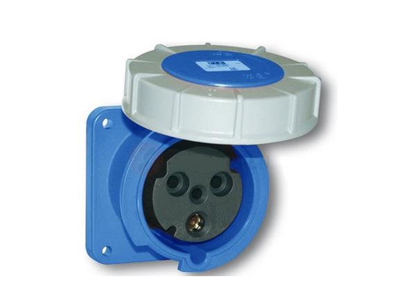 Ổ cắm gắn âm kín nước dạng thẳng PCE F333-6