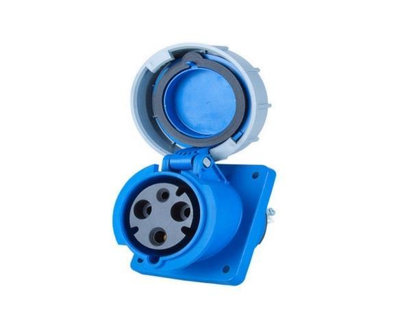 Ổ cắm gắn âm kín nước dạng nghiêng PCE F433-6FC
